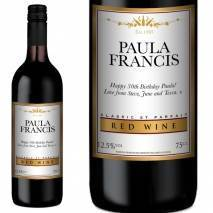 Personalised Red Wine - Gold + White
