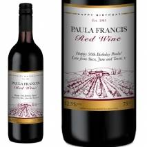 Personalised Red Wine - Vineyard Any Occasion