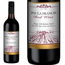 Personalised FREE Next Day Delivery Red Wine - Vineyard Label