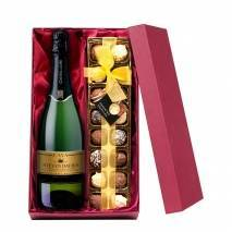 Personalised Cava with Hand Made Truffles