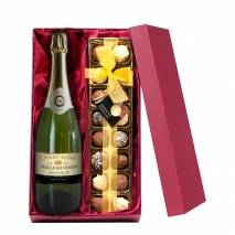 Personalised Champagne with Hand Made Truffles