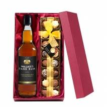 Personalised Dark Rum with Hand Made Truffles