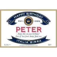 Personalised Italian Beer Label For Any Occasion