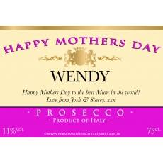 Personalised Mothers Day Prosecco Label