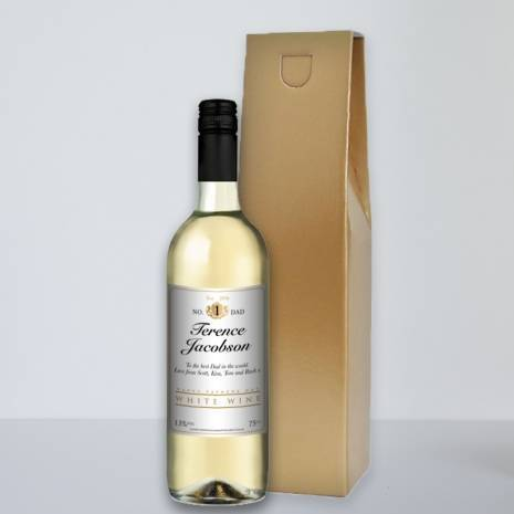Personalised Fathers Day White Wine