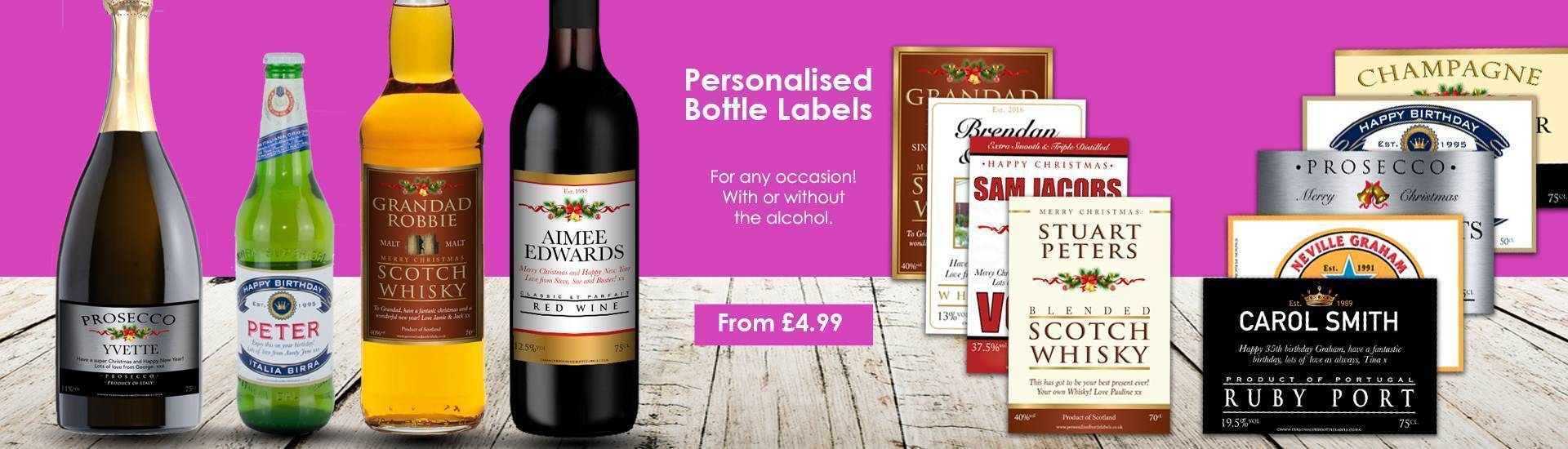 Personalised Bottle Labels