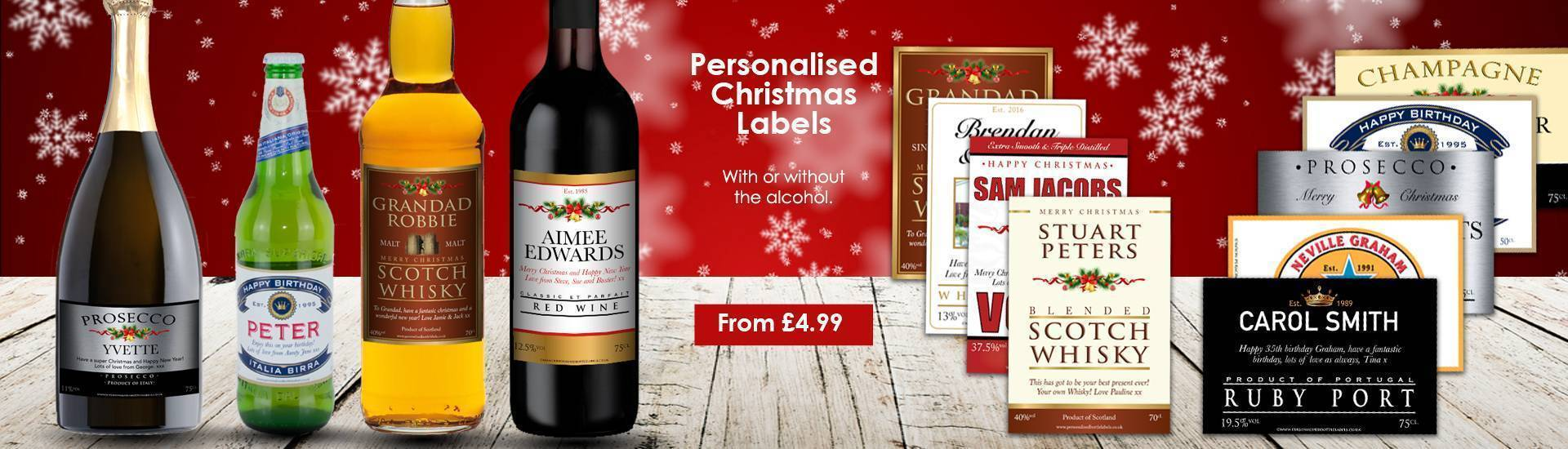 Personalised Christmas Alcohol