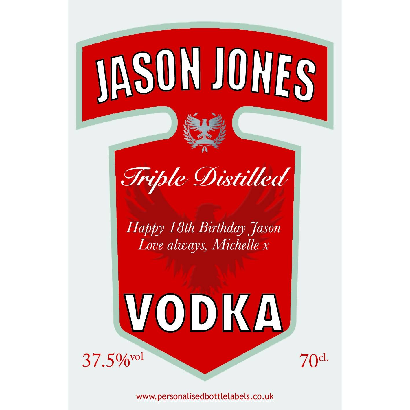 It's just an image of Nifty Personalised Vodka Bottle Labels