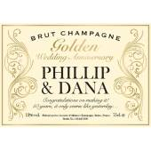Gold Anniversary Champagne Label - Decorative