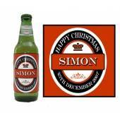 Personalised Red Beer Bottle Label