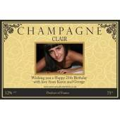 Personalised Photo Champagne Bottle Label NEW design