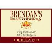 Personalised Irish Whiskey Bottle Label