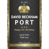 Personalised Port Bottle Label
