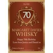 Personalised Traditional Whisky Bottle Label NEW Design