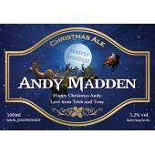 Personalised Christmas Beer label