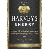Personalised Sherry Bottle Label