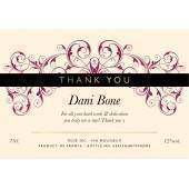 Personalised Thank You Sparkling Rosé Wine Label