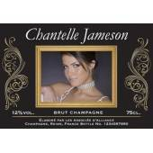 Gold Frame Champagne Photo Upload label