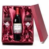 "Personalised ""Congratulations"" Red Wine & Engraved Glasses"