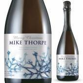 Personalised Prosecco - Winter Snow Label