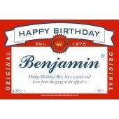 Personalised American Beer Label For Any Occasion