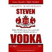 Personalised Birthday Vodka Label