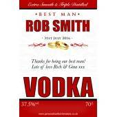 Personalised Wedding Vodka Label