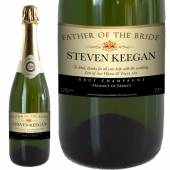 Personalised Wedding Title Champagne - Cream