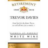 Personalised Retirement White Wine Label