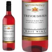 Personalised Retirement Photo Rosé Wine
