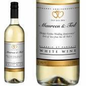 Personalised Anniversary White Wine