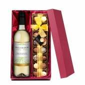 Personalised White Wine with Hand Made Truffles