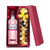 Personalised Pink Gin with Hand Made Truffles