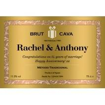 Classic Gold - Personalised Cava Label