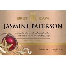 Christmas Baubles - Personalised Cava Label