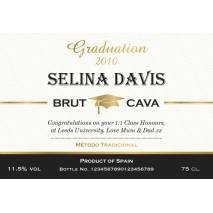 Graduation - Personalised Cava Label