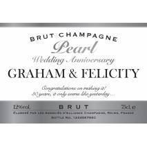 Personalised Pearl Anniversary Champagne