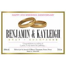 Rings - Personalised Anniversary Champagne