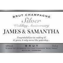 Personalised Silver Anniversary Champagne