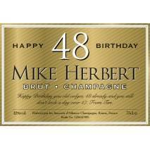 Personalised Birthday Champagne - Gold Label