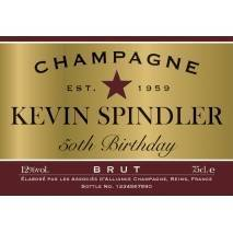 Personalised Birthday Champagne - Red