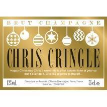 Christmas Baubles - Personalised Champagne Label