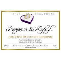 Diamond Ring - Engagment Champagne Label