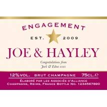 Star - Personalised Engagement Champagne Label