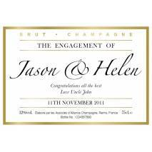 Engagement Celebration - Personalised Champagne Label