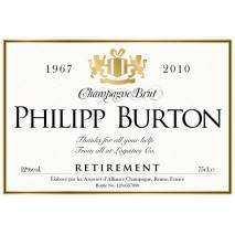 Gold - Personalised Retirement Champagne Label