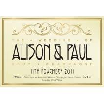 Reception - Personalised Wedding Champagne
