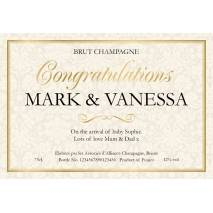 Congratulations - Champagne Label