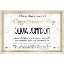 Elegant - Personalised Mother's Day Champagne