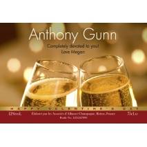 Flutes - Personalised Engagement Champagne Label